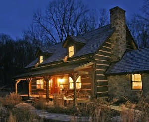 Craftsman style log home in pennsylvania for Craftsman style log homes