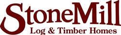 stonemill log & timber homes logo