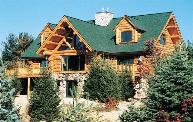 North arrow log homes christopher log home for Www loghome com