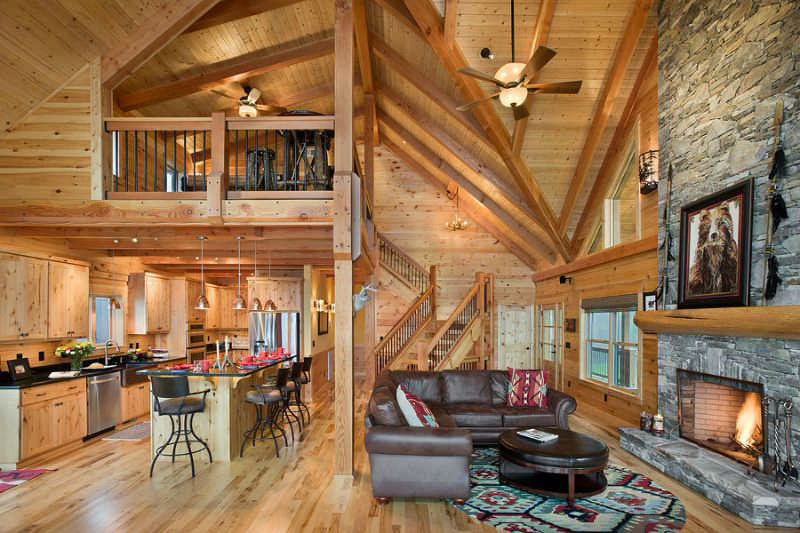 Park vista log home floor plan by log homes of america for Great american log homes