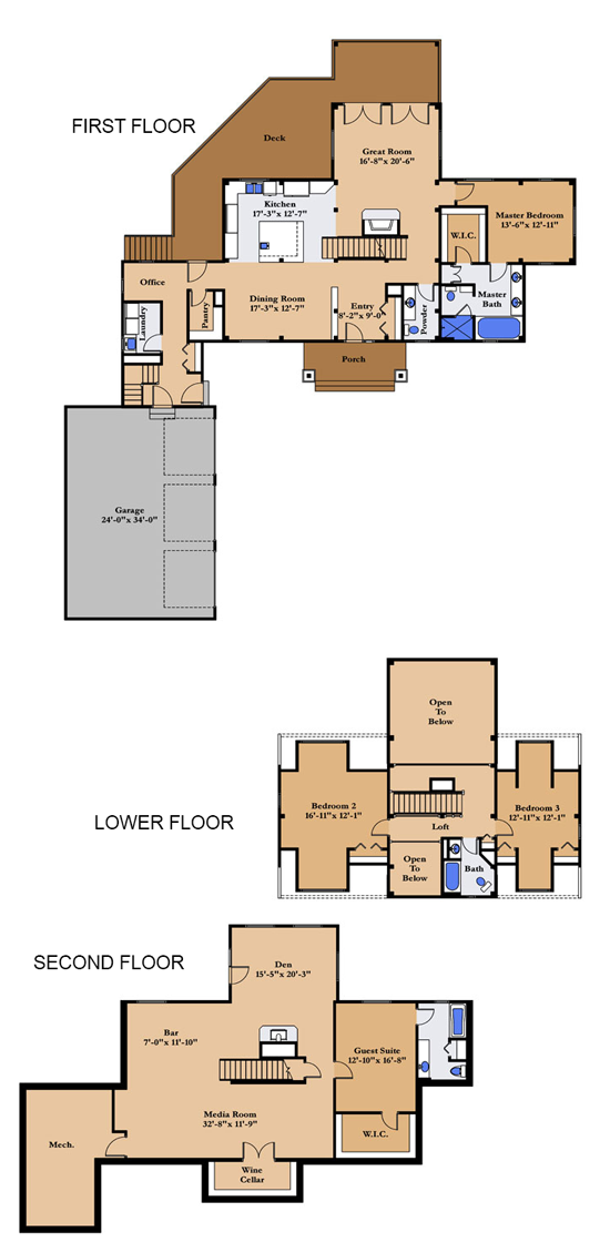 The Lakeview Log Home Plan By Woodhouse The Timber Frame