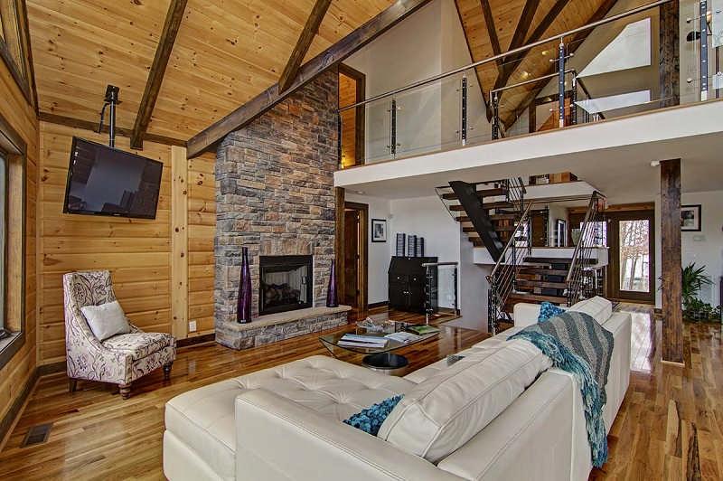 Denver log home floor plan by timber block log homes for Log home living floor plans