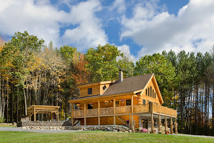 Custom Ascutney Log Home Plan by Coventry Log Homes, Inc