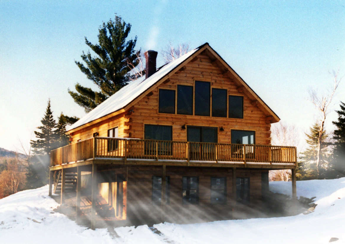 Alpine log home plan by coventry log homes inc for Home plas