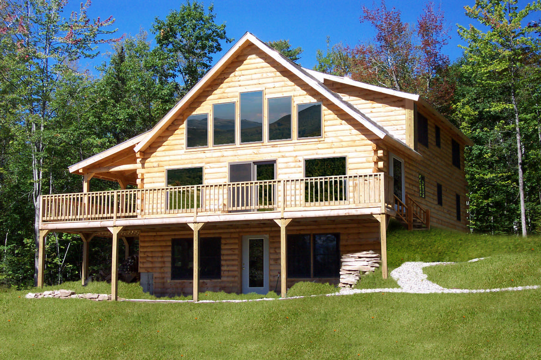 Oak ridge home plan by coventry log homes inc for Log home floor plans