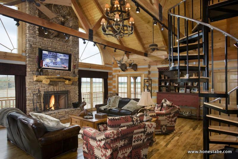 Paris Vacation Log Cabin By Honest Abe Log Homes Inc