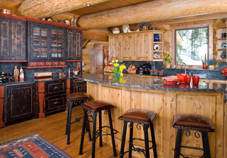 open kitchen layout breakfast bar
