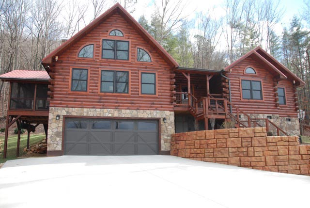 The Clearbrook Log Home By Honest Abe Log Homes Inc