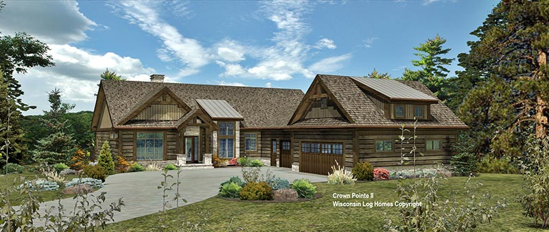 The crown pointe ii log home floor plan from wisconsin log homes - Design homes wi ...