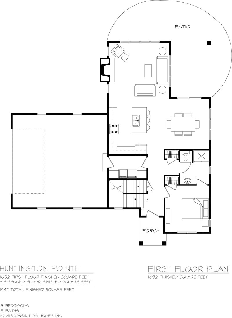 huntington pointe floorplan by wisconsin log homes