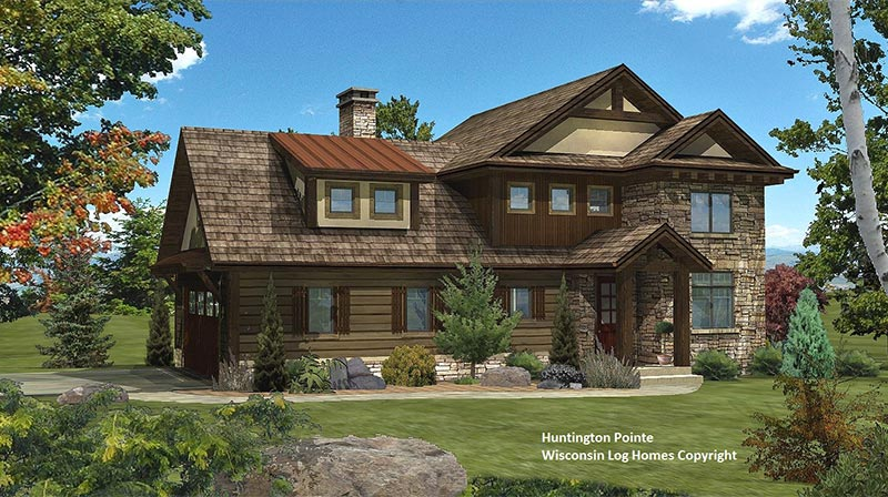 huntington pointe by wisconsin log homes