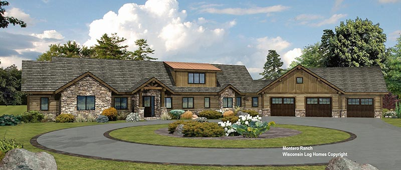 Montero-Ranch-Front-Rendering-Log-Wisconsin-Log-Homes-Inc Ranch Floor Plans For Open Concept Homes on open concept floor plans for apartments, open concept floor plans for cape cods, open concept floor plans for cottages,