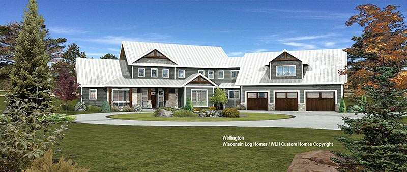 wellington log home floor plan by wisconsin log homes