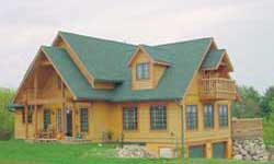 Timber Frame House Plans 1867 Confederation Log Homes Elevation