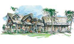 Timber Frame House Plans Blue Ridge Timber Frame Elevation