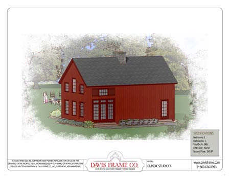 Timberframe House Plans on Classic Studio 3     Timber Frame House Plans   Timber Home Living