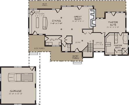 Log Home Plans - Log Cabin Home Plans, Log Home Floor Plans
