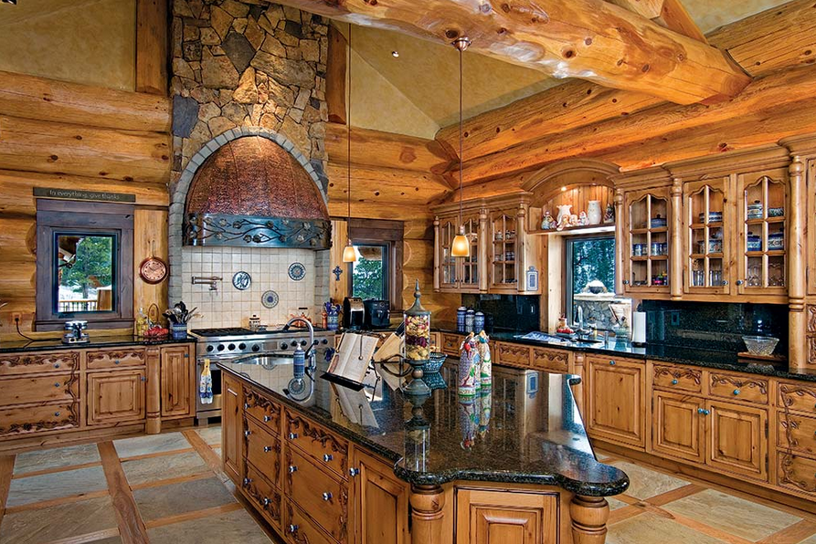 Design A Functioning Log House Kitchen