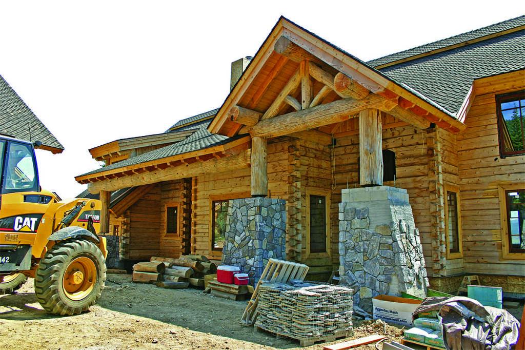 log home construction building