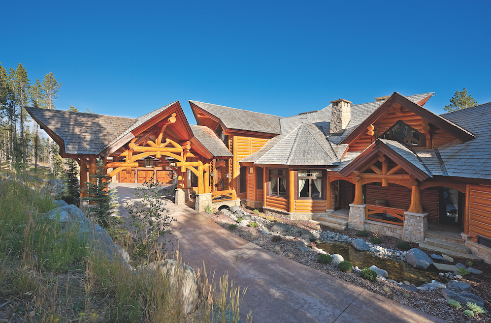 Montana log home resort residence