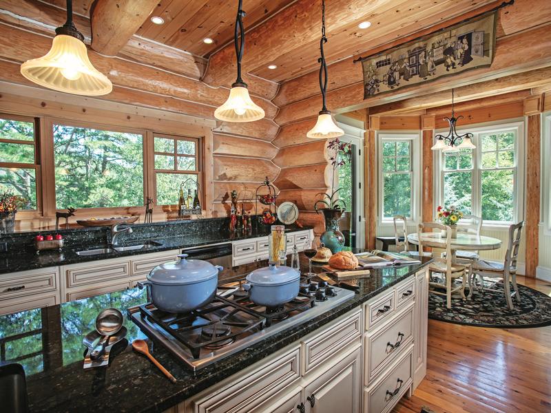 Log Home Kitchen Design Tips