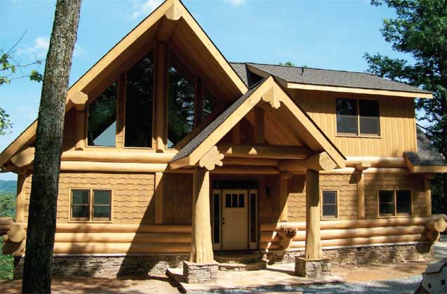 Serenity post and beam log home by log homes canada for Www loghome com