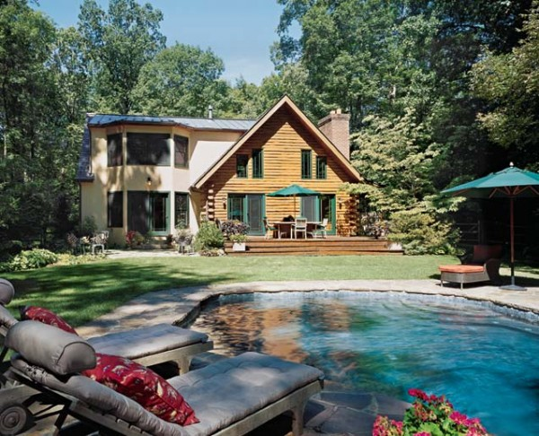natural elements log home