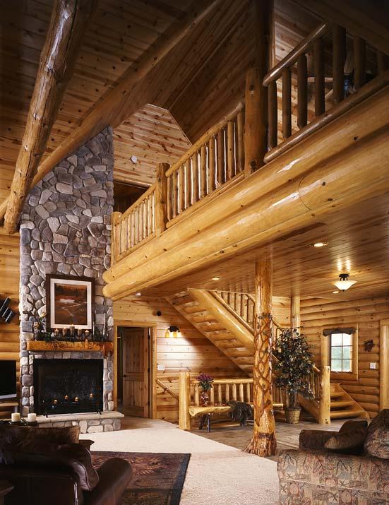 Modern Log Cabin Golden Eagle Homes