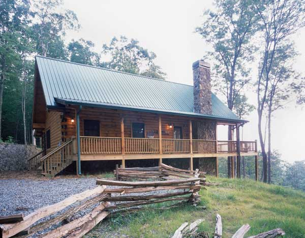 log cabins small house design