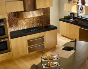 Frigo Design copper backsplash