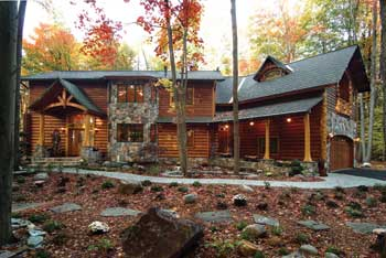A few simple DIY projects in the fall will keep your log home looking this good through the winter.