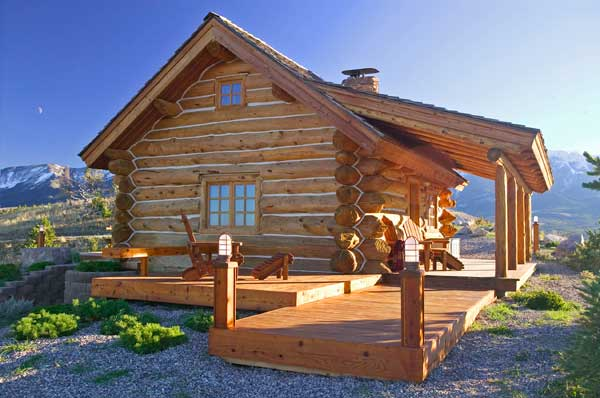 Elegant Montana_log_cabin1 Design Ideas