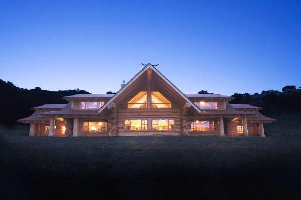 energy efficient log home in california