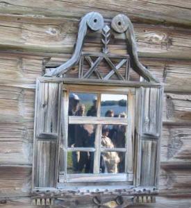 russian log home architecture windows