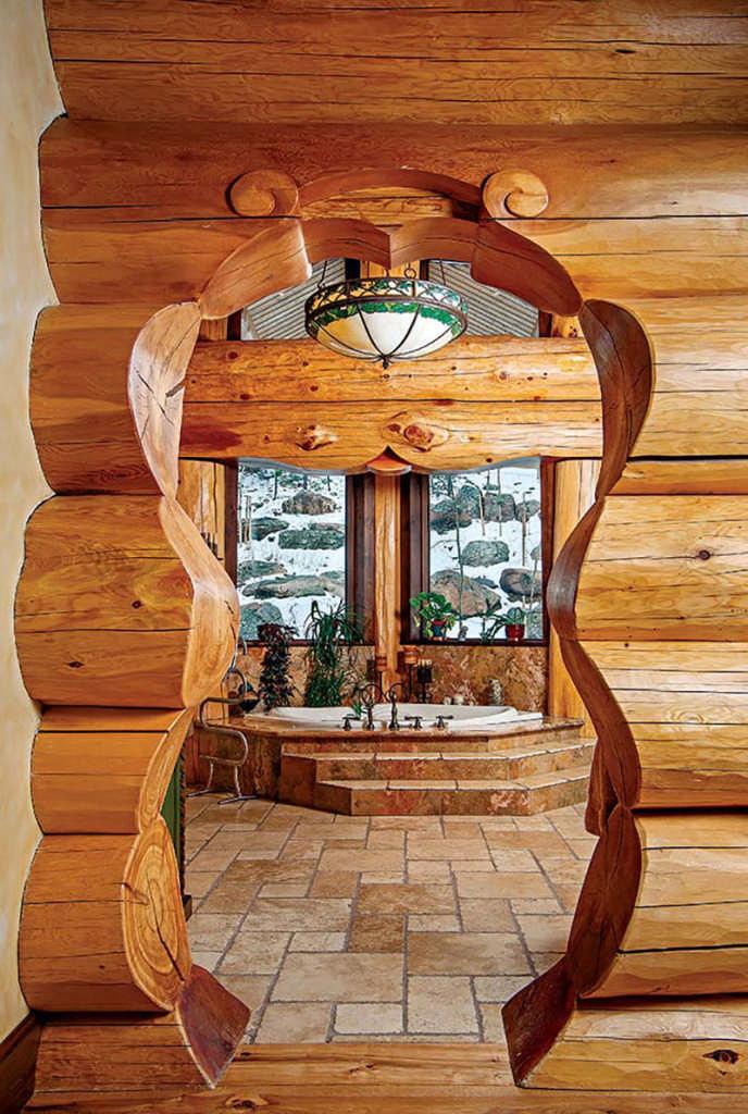 big log home Bathroom