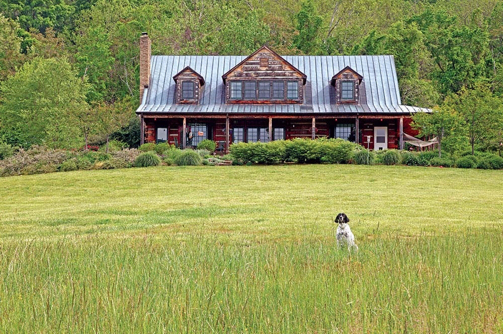 rural retreat in Virginia by master log home builder Don Chapman