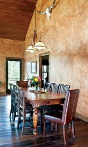 hyrbrid mountain retreat Dining room