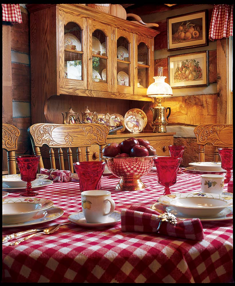 dining area style log home