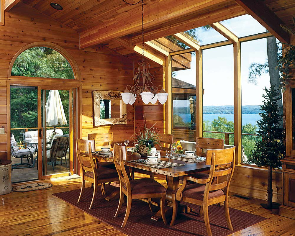 11 ways to create the perfect dining area for Log cabin sunroom additions