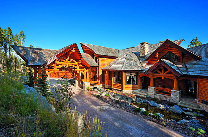 Western home exteriors rustic house design in western for Www loghome com
