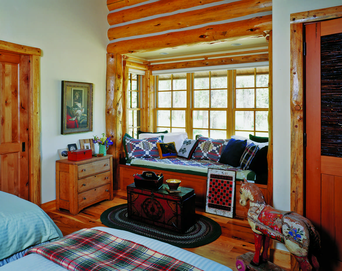 Log Home Reading Book Pillows Bedroom