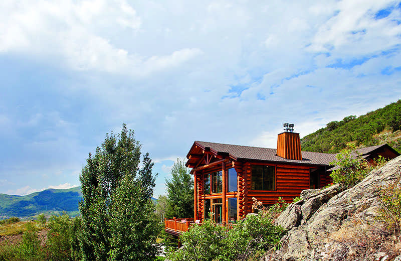 Colorado log home exterior Steamboat Springs