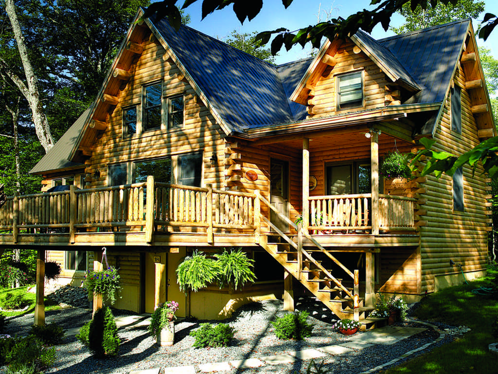 small log cabin exterior