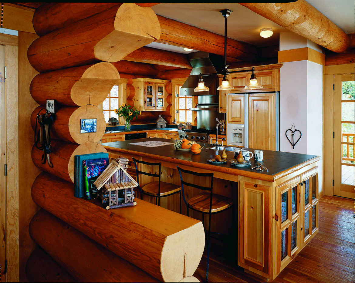 - Six Steps To A Better Log Home Kitchen