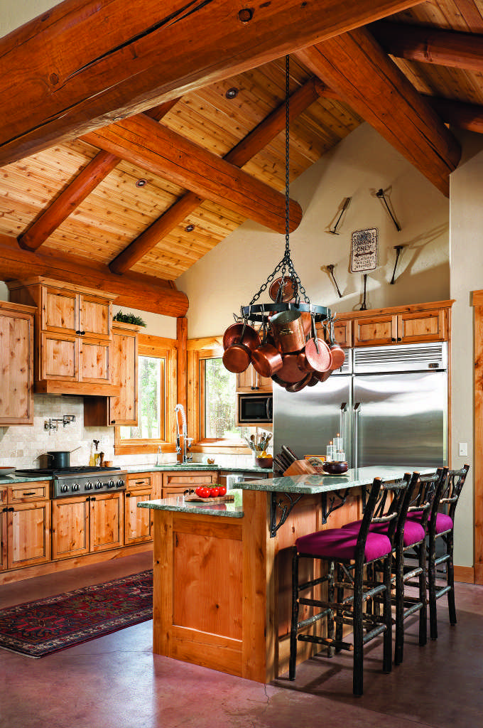Rocky Mountain log home kitchen
