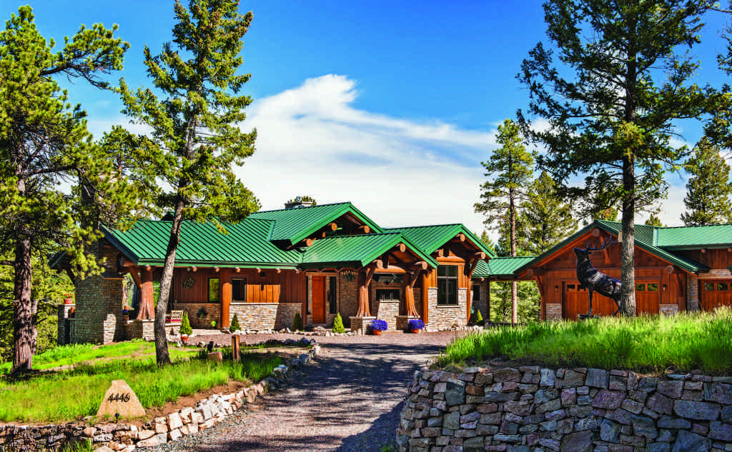 Rocky Mountain log home exterior