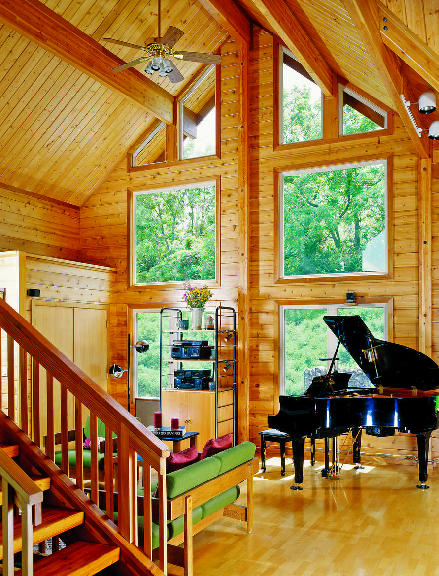 The downsides of a log home vaulted ceiling for Home plans with vaulted ceilings