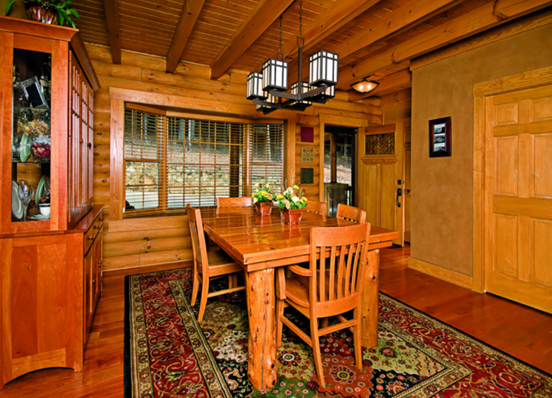 log home dining room light fixture dining room table