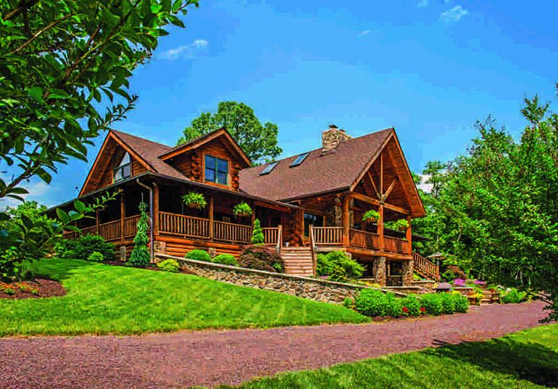 Virginia log home exterior