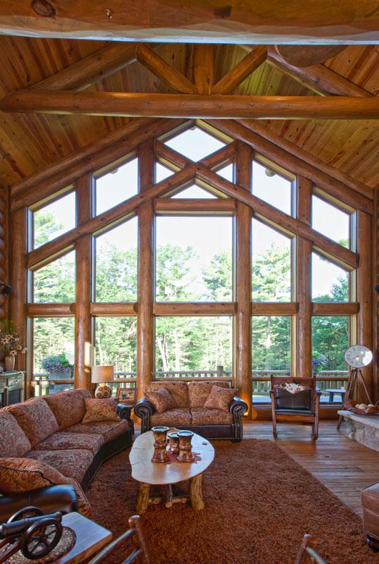 Grwindow Wisconsin Log Homes Kcj Studios Window Glazing
